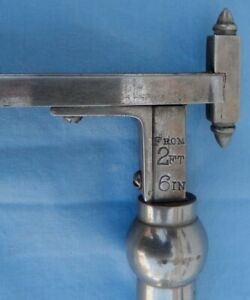 Antique Howe Rutland Vt Medical Adjustable Graduated Height Measure Swing Arm