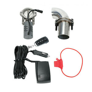 2 5 Inch Electric Exhaust Systems Valve Control Downpipe Cut Out Catback Remote