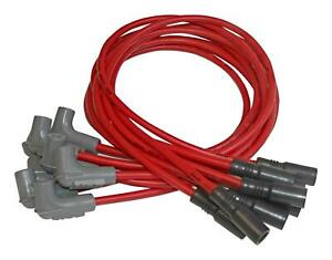 Msd Spark Plug Wires Spiral Core 8 5mm Red 90 Deg Boots Chevy Pontiac 5 7l Set