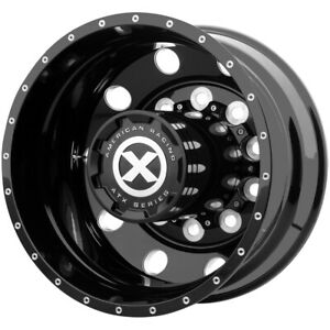 Atx Ao405 Trex Rear 22 5x8 25 10x285 75 168mm Black milled Wheel Rim 22 5 Inch