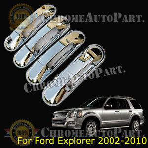 4 For Ford Explorer 2002 2007 2008 2009 2010 Chrome Door Handle Covers W o Psk