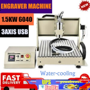 Cnc 6040 3axis 1 5kw Router Engraving Machine Usb Vfd Wood Pcb Drill Milling Top