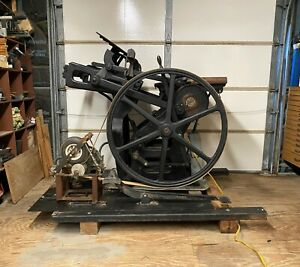 Working Chandler Price Platen Press Phase Converter Fully Operational 1900s