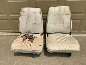 1968 1969 B Body Low Back Bucket Seats Tracks Pair B Body Charger Roadrunner