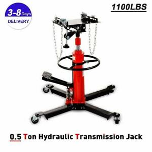 A 1100 Lbs Transmission Jack 2 Stage Hydraulic W 360for Car Lift Auto Lift