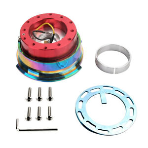 2 0 Quick Release Hub Steering Wheel 6 Holes Diamond Cut Fit For Nrg Neo Chrome