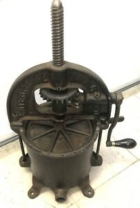 Antique Cast Iron Enterprise Mfg co large 6 Quart Sausage Press Stuffer No 6341