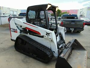 2014 Bobcat T550 Turbo 66 Hp Mid Sized Skid Steer Track Loader