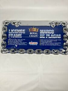 Chrome Chain License Plate Metal Frame Universal Car Truck Front Rear Plate