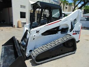 2014 Bobcat T750 Turbo Track Loader Selectable Iso Controls Brand New Tracks