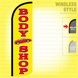Body Shop Windless Swooper Flag 3x11 5 Ft Feather Banner Sign Yz