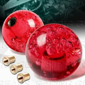 Vip Ball 60mm W power Transparent Manual Mt Red Crystal Bubble Shift Knob
