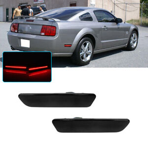 Smoked Lens Led Rear Bumper Side Markers Lamps Lights For 2005 2009 Ford Mustang