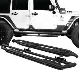 For 2018 2020 Jeep Wrangler Jl 4 Door Armor Side Steps Nerf Bars Running Boards