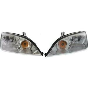 New Fo2502210 Fo2503210 Right Left Side Headlight Set For Ford Focus 2005 2007