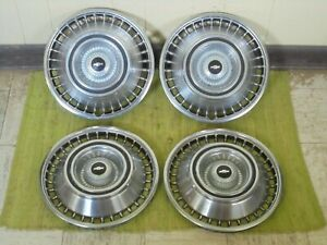 1964 Chevrolet Hub Caps 14 Set Of 4 Chevy Hubcaps Wheel Covers 64