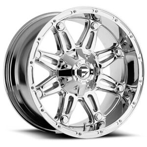 4 Fuel D530 Hostage 20x9 8x170 1mm Chrome Wheels Rims 20 Inch