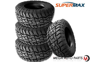 4 Supermax Rt 1 33x12 50r17lt 120q Tires 10ply All Terrain A T Mud M T Truck