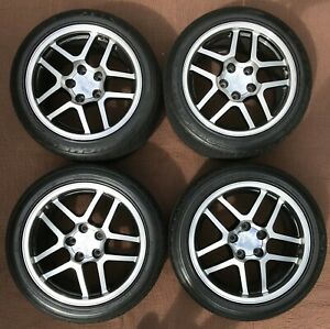 Set Of Chevy C5 Corvette Z06 Style Wheels And Michelin Pilot Sport Tires