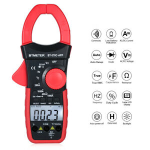 Btmeter Lcd Digital Clamp Meter Multimeter Voltmeter Ammeter Test Leads Z2v0