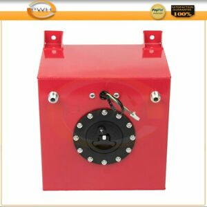 High Grade Red 5 Gallon 20l Aluminum Racing Drift Fuel Cell Tank