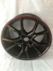 19 Fk8 Type R Style Gloss Black Red Lip Wheels Rims For Honda Accord Civic