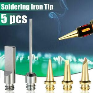 5pcs set Mt 100 Gas Soldering Iron Electric Blow Torch Wireless Butane Portable