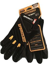 Ironclad Superduty Gloves Large Black yellow 1 Pair