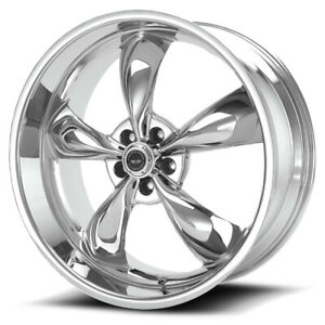 4 ar605 Torq Thrust M 17x8 5x4 5 0mm Chrome Wheels Rims 17 Inch