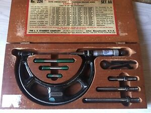 Machinists Tools Vintage Starrett 0 To 4 No 224 Outside Micrometer