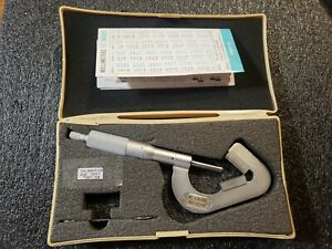 Mitutoyo 114 202 V anvil Micrometer 093 1 With Ratchet Stop