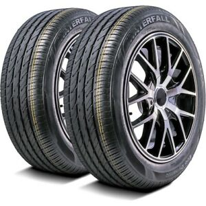 2 New Waterfall Eco Dynamic 215 55r16 93w High Performance All Season Tires