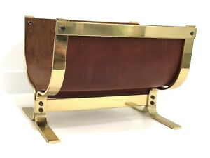 Leather And Brass Log Holder By Alessandro Albrizzi