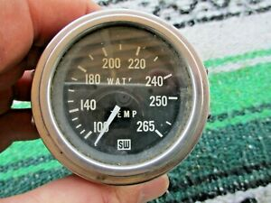 Vintage Stewart Warner Black White Face Water Temp Gauge 2 Hot Rod Rat Rod Sw