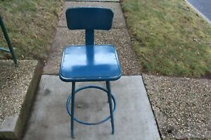 Vintage Industrial Metal Machine Shop Chair Stool 1 Royal Metal Corporation Usa