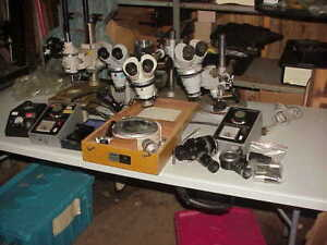 Nikon Microscope Lot 16 Pc s Take A Look Dealers