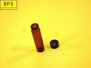 1x Amber Glass Vial 17x60 Mm 2 Dram 7 4 Ml Thread Cap Fisherbrand 03 339 23c
