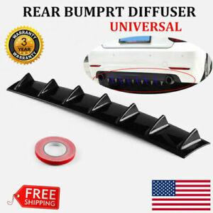 33 x6 Black Rear Lower Bumper Diffuser Fin Spoiler Lip Wing Splitter Universal