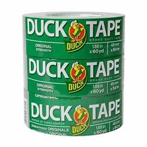 The Original Duck Tape Brand 286553 Duct Tape 3 pack 1 88 Inch X 60 Yard 180 T