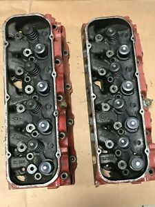 454 Heads 4291 A 14 72 3964291 Matching Pair Chevy Big Block Chevelle Corvette