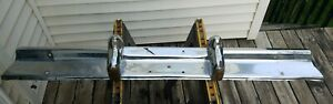 1957 Chevrolet Bel Air Station Wagon Rear Center Bumper With Guards Oem 57 Chevy
