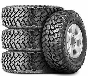 4 New Maxxis Buckshot Mudder Ii Mt 764 Lt 305 70r17 Load E 10 Ply M t Mud Tires