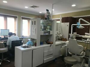 Used Adec Dental Cabinet Room Divider Can Mount Xray And Storage