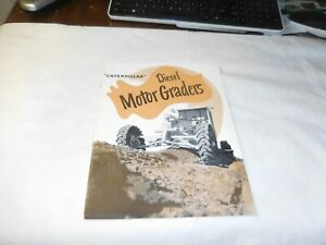 1951 Caterpillar Diesel Motor Graders Sales Brochure
