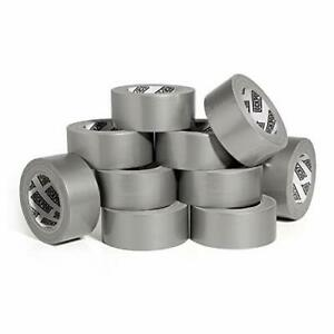 New Heavy Duty Silver Duct Tape 10 Roll Multi Pack Industrial Lot 30 Yards