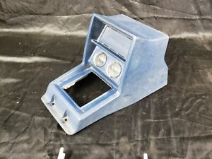 1980 86 Datsun Nissan 720 Pickup King Cab Center Shift Console With Gauges Blue