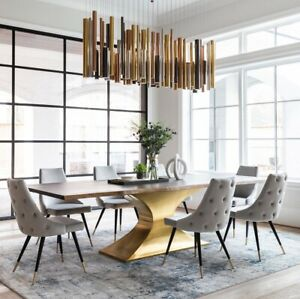 112 Modern Live edge Dining Conference Table Restoration Hardware Reproduction
