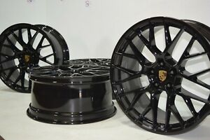 20 Porsche Macan Factory Oem Rs Spyder 20 Authentic Wheels Rims Black