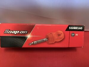 Brand New Snap On Ratcheting Stubby Orange Hard Handle Screwdriver Ssdmr1ao