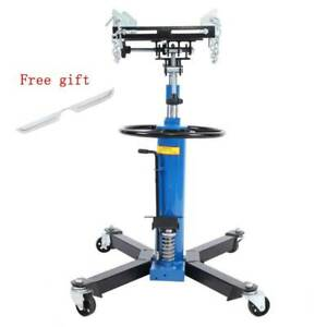 Adjustable Height Hydraulic Transmission Jack 2stage Auto Shop Car Lift 1000lbs
